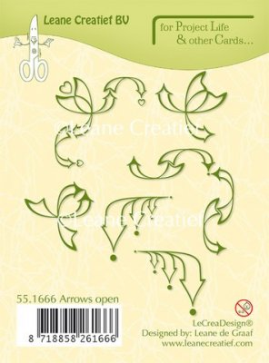 Leane Creatief Project Life & Cards Clear Stamps - Open Arrows