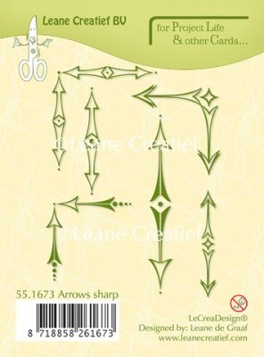 Leane Creatief Project Life & Cards Clear Stamps - Sharp Arrows