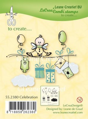 Leane Creatief Clear Stamp - Celebration