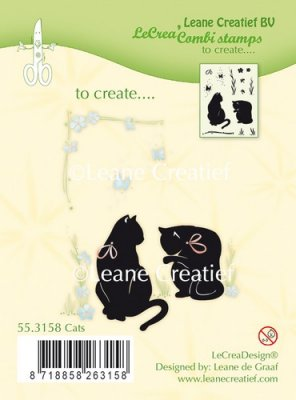 LeCrea Design - Combi Clear Stamp Cats