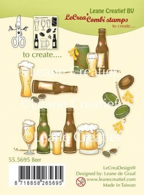 Leane Creatief Clear Stamps - Beer