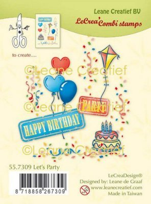 LeCrea Combi Clear Stamps - Let's Party