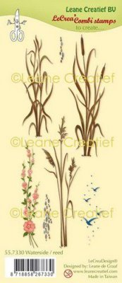 LeCrea Combi Clear Stamps - Waterside Reed