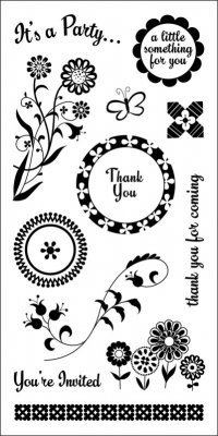 Inkadinkado Clear Stamps - Party Favors