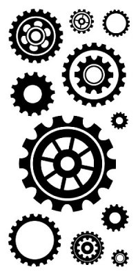 Inkadinkado Clear Stamps - Cogs and Gears