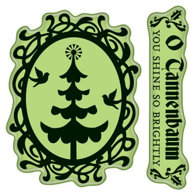 Inkadinkado Inkadinkaclings Stamps - Mini Tree Cameo