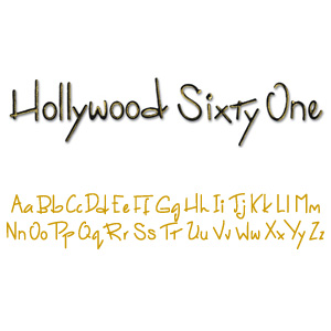 Sizzix Sizzlits Decorative Strip Alphabet Die - Hollywood '61