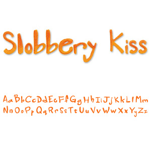 Sizzix Sizzlits Decorative Alphabet Strip Die - Slobbery Kiss