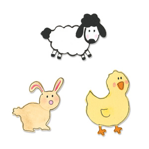 Sizzix Sizzlits Die Set 3PK - Baby Animals Set
