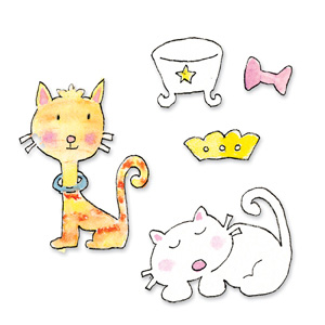 Sizzix Sizzlits Die Set 3PK - Cat Set (Small)