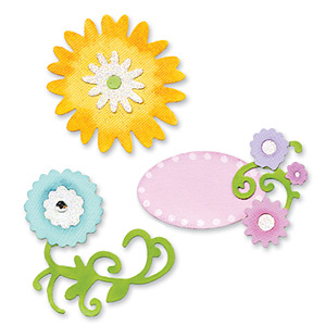 Sizzix Sizzlits Die Set 3 PK - Flower Stem, Leaves & Frame Set