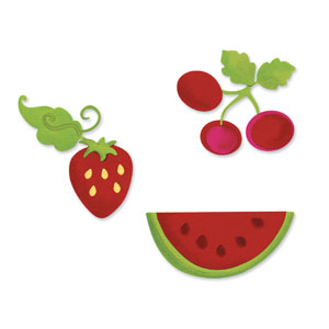 Sizzix Sizzlits Die Set 3PK - Summer Fruit Set