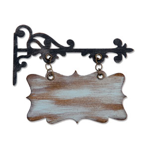 Sizzix Bigz Die - Hanging Sign by Tim Holtz