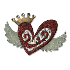 Sizzix Bigz Die - Heart Wings by Tim Holtz