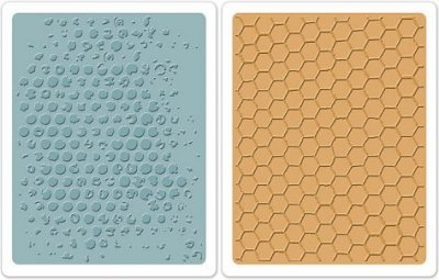 Sizzix Texture Fades Embossing Folders 2 Pack - Bubble & Honeycomb Set by Tim Holtz