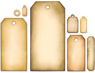 Sizzix Framelits Die Set - Tag Collection by Tim Holtz (8 dies)