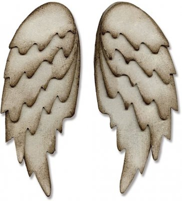 Sizzix Bigz L Die - Feathered Wings by Tim Holtz