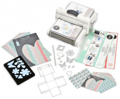 Sizzix White & Gray Big Shot Plus Starter Kit (fraktfritt!)