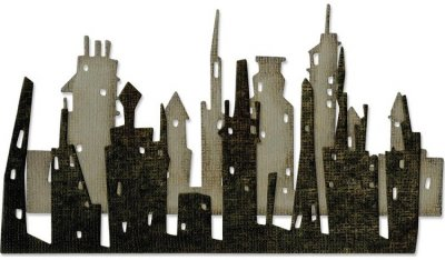 Sizzix Thinlits Die Set - Cityscape Skyline by Tim Holtz (2 dies)