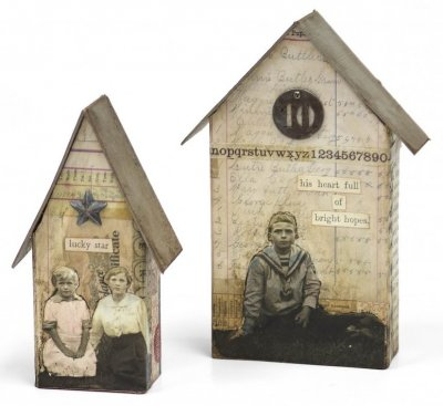 Sizzix Bigz L Die - Tiny Houses by Tim Holtz