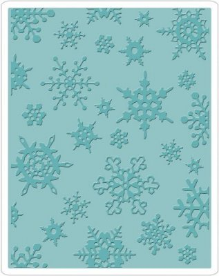 Sizzix Texture Fades Embossing Folder - Simple Snowflakes by Tim Holtz
