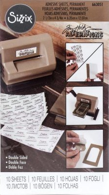 Sizzix Adhesive Sheets - Permanent by Tim Holtz (10 pack)