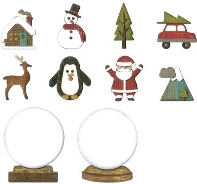 Sizzix Thinlits Die Set - Tiny Snowglobes by Tim Holtz (11 dies)