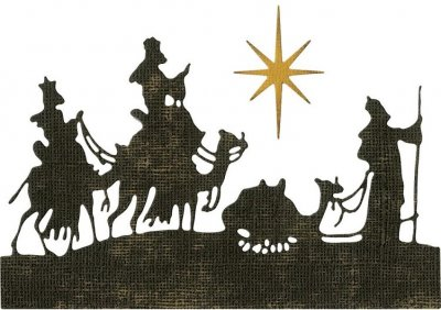 Sizzix Thinlits Die Set - Wise Men by Tim Holtz (2 dies)