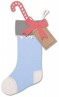 Sizzix Thinlits Dies - Christmas Stocking by Sophie Guilar