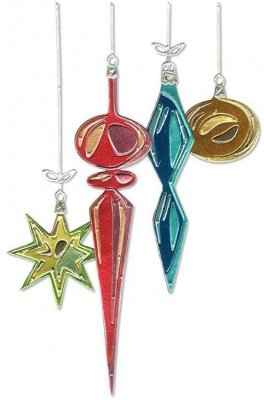 Sizzix Thinlits Die Set - Hanging Ornaments by Tim Holtz (17 dies)