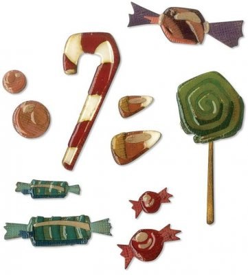 Sizzix Thinlits Die Set - Sweet Treats by Tim Holtz (11 dies)