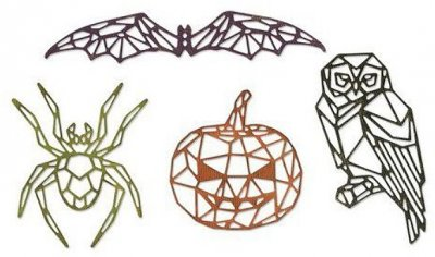 Sizzix Thinlits Die Set - Geo Halloween by Tim Holtz (4 dies)