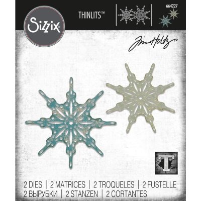 Sizzix Thinlits Die Set - Fanciful Snowflakes by Tim Holtz (2 dies)