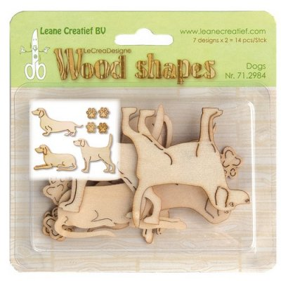 LeCrea Design - Wood Shapes Dogs