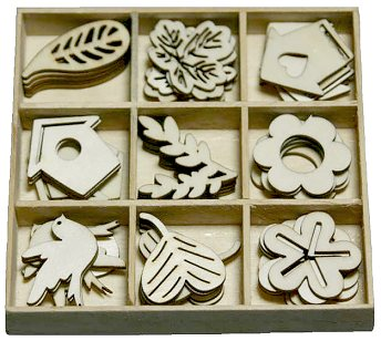 CraftEmotions Wooden Ornament Box - Garden no. 1