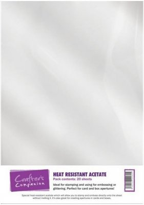Crafters Companion A4 Heat Resistant Acetate (20 sheets)