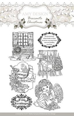 Amy Design Clear Stamp Set - Brocante Christmas (7 stamps)