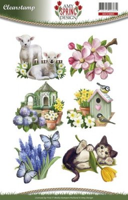 Amy Design Clear Stamp Set - Spring (6 stamps)