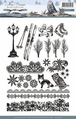Amy Design Clear Stamp Set - Wintertide (24 stamps)
