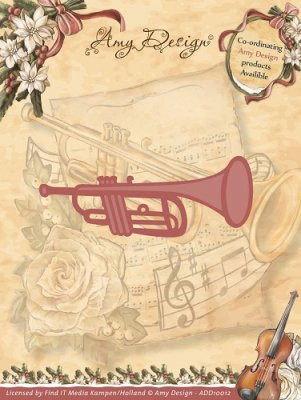 Amy Design Dies - Vintage Christmas Collection Trumpet