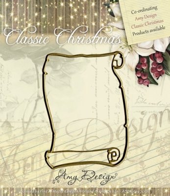 Amy Design Dies - Classic Christmas Scroll