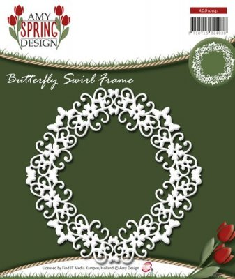 Amy Design Dies - Spring Butterfly Swirl Frame