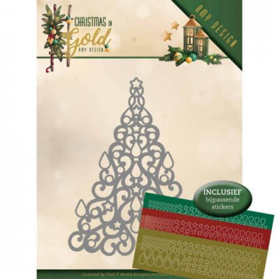 Amy Design Dies - Christmas in Gold Christmas Tree Hobbydots