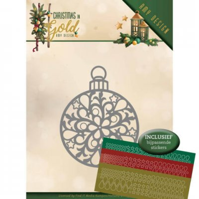 Amy Design Dies - Christmas in Gold Christmas Bauble Hobbydots