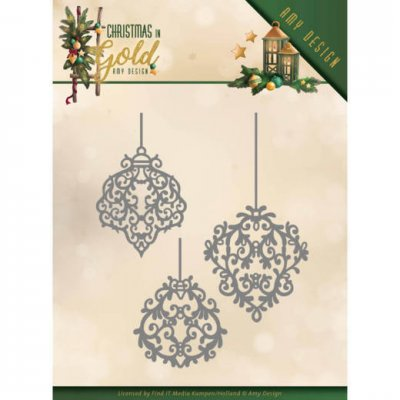 Amy Design Dies - Christmas in Gold Golden Ornaments