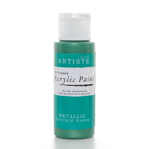 Artiste 2 oz ACRYLIC PAINT - METALLIC EMERALD GREEN