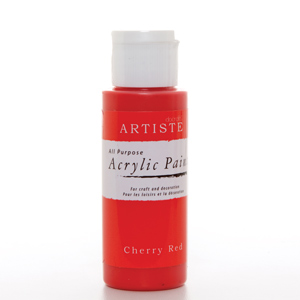 Artiste 2 oz ACRYLIC PAINT - CHERRY RED