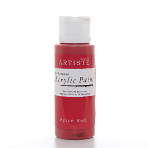 Artiste 2 oz ACRYLIC PAINT - SPICE RED