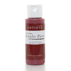 Artiste 2 oz ACRYLIC PAINT - POMEGRANATE