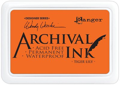Ranger Wendy Vecchi Designer Series Archival Ink Pad - Tiger Lily